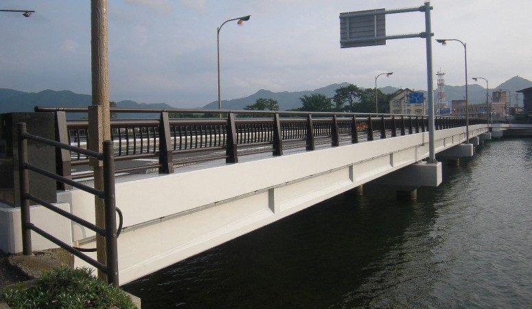 国道191号萩橋橋梁補修工事
